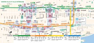 Metro Montreal Map by Accommodation Dlt 2016