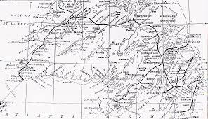 Newfoundland Map Rolly Martin Country Across Canada Canadian National Railways 1925