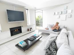 modern living room tv