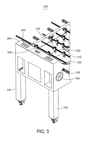 Regulation Foosball Table Patent Us7992872 Foosball Table Google Patents