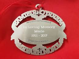 merry christmas from heaven personalized merry christmas from heaven ornament