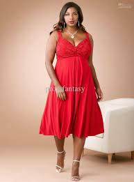 red evening plus dresses red chiffon a line knee length plus