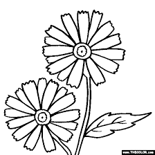 poinsettia coloring pages daisy flower online coloring page color daisies online