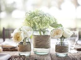 wedding flowers jam jars 10 rustic wedding centrepieces tree slices bark vases