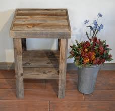 Making Wooden End Tables by Best 25 Barn Wood Tables Ideas On Pinterest Wood Tables
