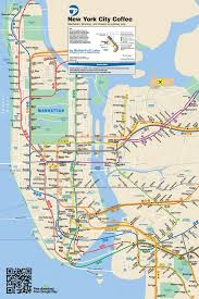 map new york map nyc coffee subway map updated to include