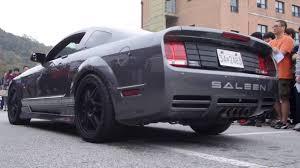 Black Mustang Saleen Ford Mustang Saleen Bodykit Exhaust Sound Youtube