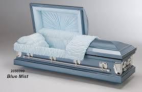 casket for sale blue mist metal casket vida funeral home