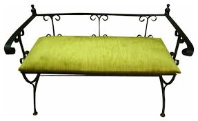 Modern Indoor Benches Mid Century Wrought Iron Modern Indoor Benches New York Wrought