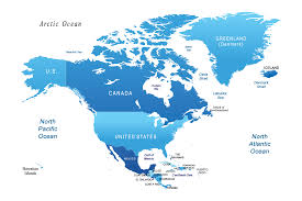 combined map of usa and canada us and canada on world map thempfa org