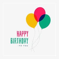 happy birthday simple design simple happy birthday greeting design download free vector art