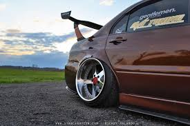 evo stance bagged wide mitsubishi evo 4 mmc evolution pinterest evo