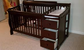 Baby Cribs With Changing Table Attached Baby Crib Changing Table Dresser Combo Cribs Pinterest