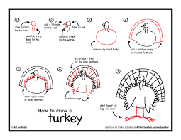 art for thanksgiving how to draw a turkey art for kids hub drawings easy cartoon