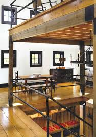 pipe stair railing open stair well garage barn pinterest