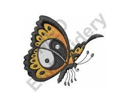 yin yang embroidery etsy