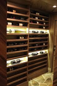 vertical display wine racks in black walnut wood contemporary