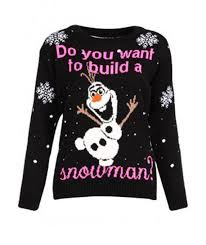do you want to build snowman olaf frozen christmas jumper sweater