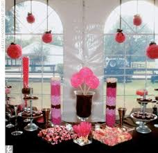 Pink And Black Candy Buffet by Pink Black And White Wedding Centerpieces Pink And Black Wedding
