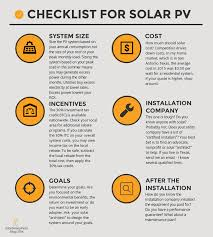 checklist for solar pv u2014 solarsmartypants