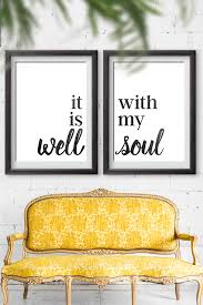 decor signs it is well with my soul home decor sign free printable
