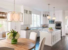 Beautiful Kitchen Lighting Drum Pendant Lighting For Stylish Modern Kitchen Decoration