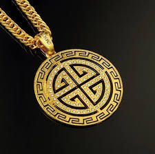 hip hop necklace images Hot sale jewelry cheap men fashion disk pendant necklaces hip hop jpg