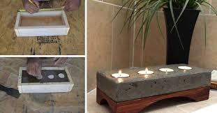 oggetti decorativi casa oggetti d arredo fai da te utilizzando il cemento 15 bellissime
