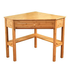 Corner Writing Desk Tms Bamboo Corner Writing Desk Oak 23610nat Staples