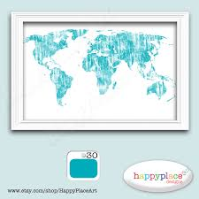 custom world map colourful world map print suit office or
