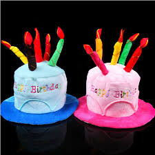 aliexpress com buy birthday cake candle hat short plush
