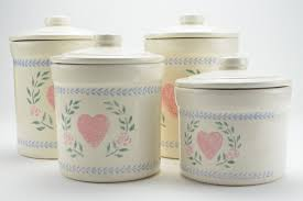 20 4 piece kitchen canister sets 1950s ransburg white metal