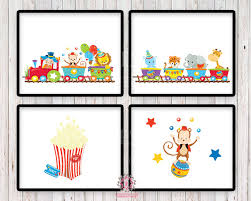 sale 4 circus train monkey elephant zoo animals printable print