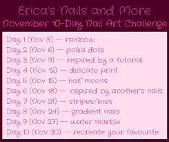 november nail art challenge day 3 erica u0027s nails and more
