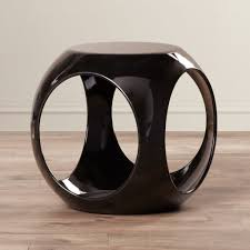 stylish small round end table ideas comes with drum shaped end
