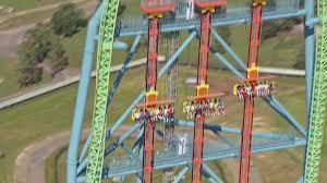 New York To Six Flags New Jersey Zumanjaro Drop Of Doom Ridercam U0026 Off Ride Hd B Roll Footage Six