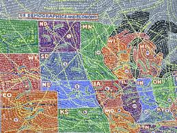 Zip Code Map Usa by Paula Scher U0027s Insanely Detailed Us Maps Elevate Data Viz To Fine