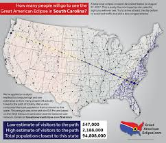 Charleston Sc Map South Carolina Eclipse U2014 Total Solar Eclipse Of Aug 21 2017
