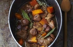cuisiner l agneau navarin d agneau à la châtaigne et au potiron recettes de