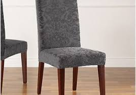 Sure Fit Stretch Pique Shorty Dining Room Chair Slipcover Grey Dining Room Chair Covers Luxury Sure Fit Stretch Pique