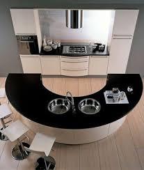 cuisine avec ilot central arrondi cuisine ouverte avec îlot central arrondi schmidt cuisine