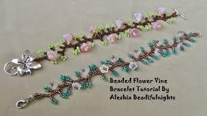 bracelet bead pattern images Beaded flower vine bracelet tutorial jpg