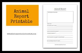 animal report template animal report printable thehomeschoolscientist jpg
