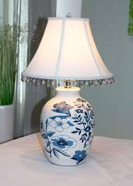 Beautiful Lamps Lamps Ceramic Bedside Lamps Grey Table Lamps White Bell Lamp