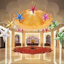 30cm laser paper indoor hanging decorations five pointed