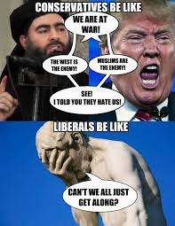 Can T We All Just Get Along Meme - freethinker on twitter can t we all just get along trump isis