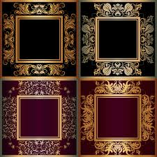 luxury gold frame with ornaments floral vector welovesolo