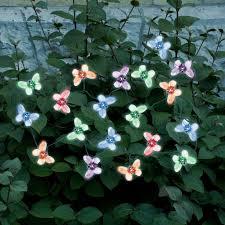 color changing solar string lights string lights 20 led color changing butterflies