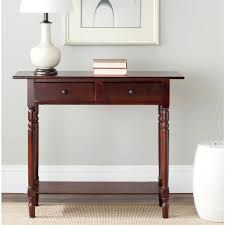 Dark Cherry Sofa Table by Safavieh Rosemary Distressed Cream Storage Console Table Amh5705c