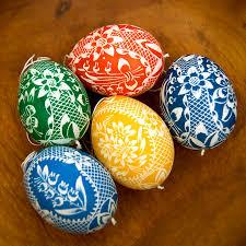 easter egg with scratched design fancy easter decorations folk